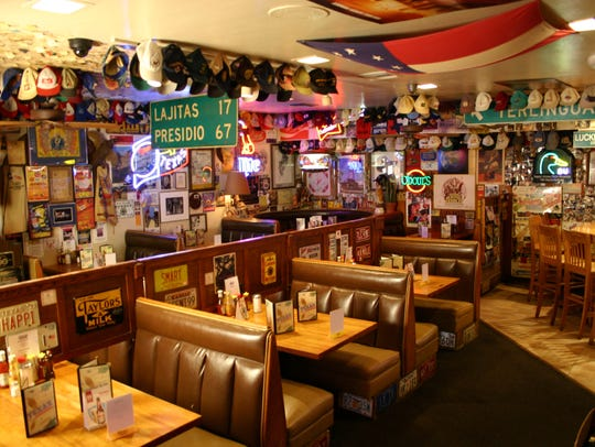 Texaz Grill is known for its eclectic collection of