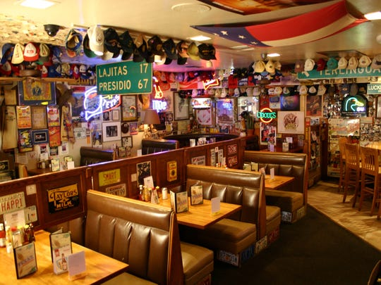 Texaz Grill is known for its eclectic collection of Southern paraphernalia.