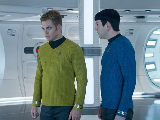 Chris Pine, left, and Zachary Quinto are Kirk and Spock