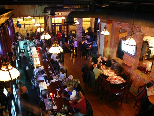 The VIP Room at Cheli's Chili Bar in downtown Detroit overlooks the bar and dining room. The restaurant is Red Wing Chris Chelios' second, the first restaurant is in Dearborn.