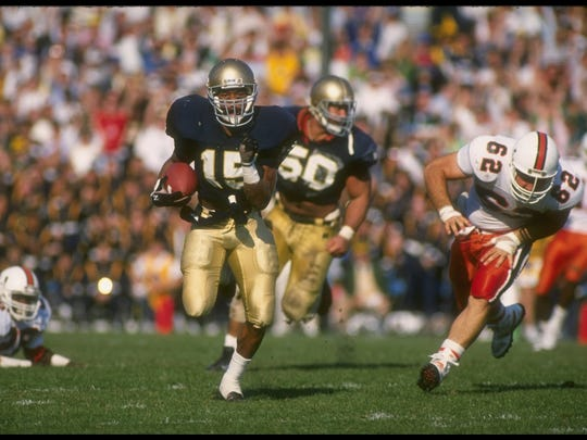 Defensive back Pat Terrell of the Notre Dame Fighting