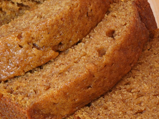 Fresh baked pumpkin bread warm from the oven. Excellent