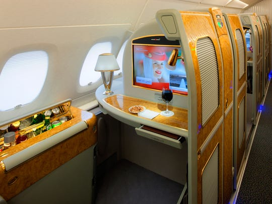 Emirates first class private suite.