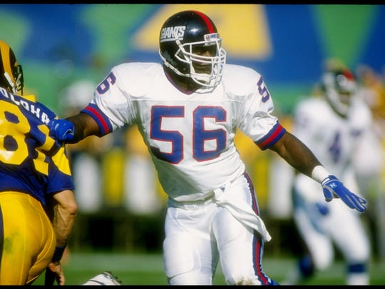 The Giants selected linebacker Lawrence Taylor in the 1981 NFL Draft.