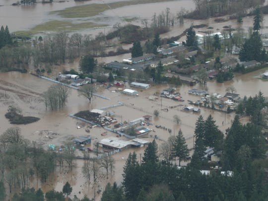 The heavy rains of January 2012 brought a lot of flooding to the Mid Willamette Valley, especially to locales near Mill Creek like Turner.
