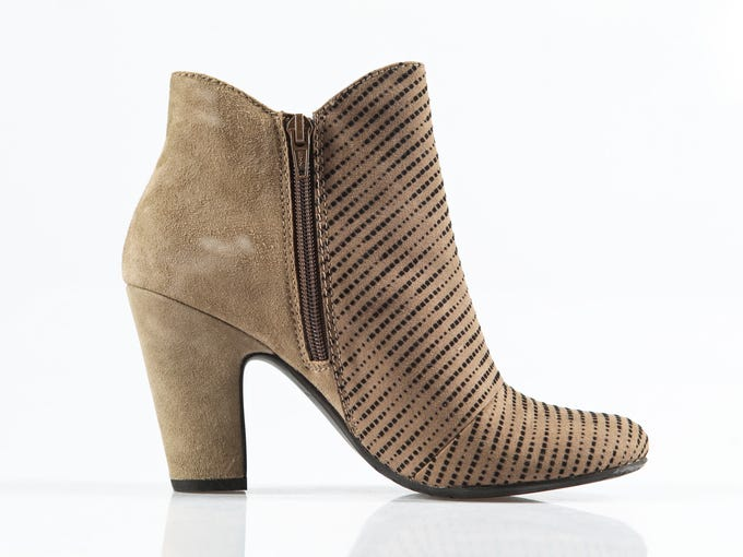 From Modern Elegance, Nicole shoe. Taupe suede with