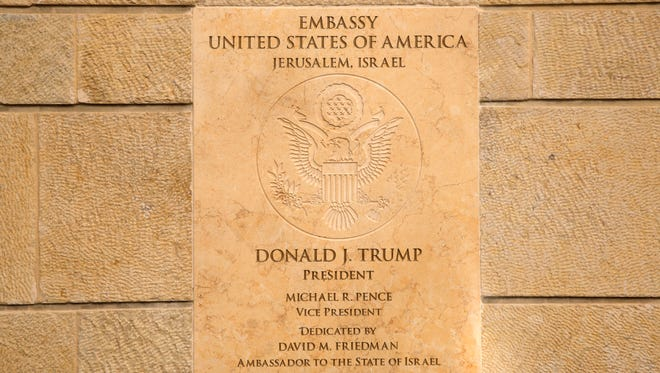 The new U.S. Embassy in Jerusalem on May 14, 2018.