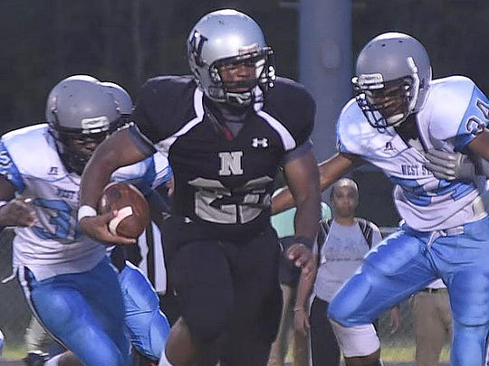 Northwest running back Matthew Rideau runs the ball
