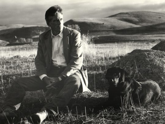 Thomas McGuane, who grew up on Grosse Ile, is shown here on his Montana ranch in a publicity portrait by Bruce Webber.