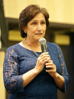 Sheboygan County YMCA's Donna Wendlandt speaks after accepting the 2017 ATHENA Leadership Award Thursday May 25, 2017 at Blue Harbor Resort and Spa in Sheboygan, Wis.