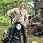 """Chris Pratt in a scene from the trailer for the motion picture """"Jurassic World."""""""