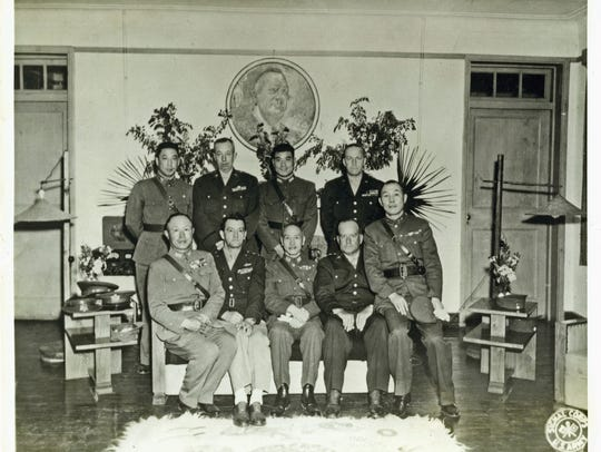 Gen. Ta-Chun Chien, sitting far right, was close to