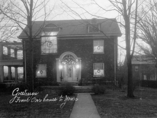 This early 1900s image shows the exterior of the home