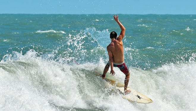 Surfing conditions will be rough and choppy this weekend on the Space Coast.