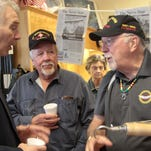 U.S. Rep. Ralph Abraham, left, talks with Vietnam War veterans Jerry Aaron, center, and Herschel Ryan at the Chennault Aviation and Military Museum. On Friday, Friends of the Chennault Museum hosted a program honoring the service of the Vietnam veterans.