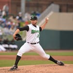 Dayton Dragons' pitcher Seth Varner threw six innings to get the 3-0 win over West Michigan April 24.