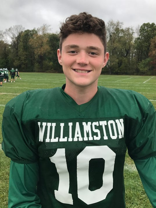 JACKSON POLLAK WILLIAMSTON FOOTBALL