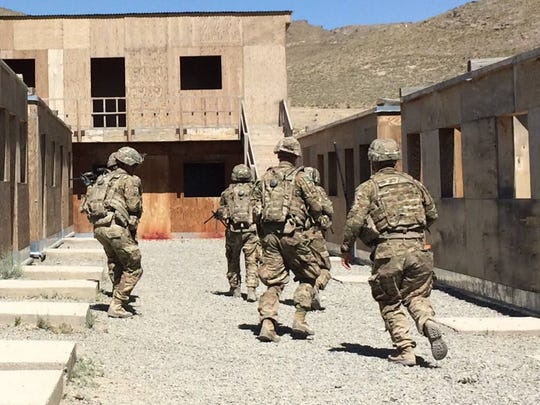 Soldiers from the 6th Squadron, 1st Cavalry Regiment conduct live-fire training in southeastern Afghanistan.