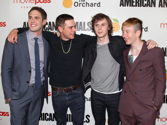 Blake Jenner (from left), Jared Abrahamson, Evan Peters