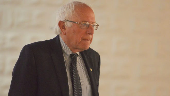 Sen. Bernie Sanders, I-Vt., arrives at Polaris Mediwaworks studio in Burlington to do a round of Sunday news show interviews via live uplink on Sunday, June 12, 2016. Sanders was to meet with close advisors and supporters at his home later in the day to discuss his campaign for the Democratic presidential nomination.