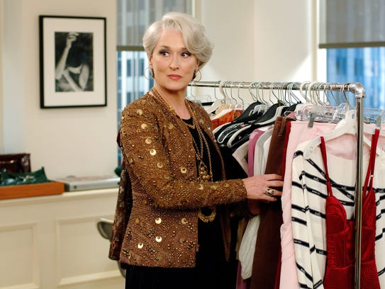 Meryl Streep as Miranda Priestly in the movie version