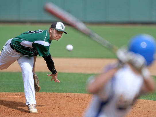 Hunter Parsons throws a heater against Southern in