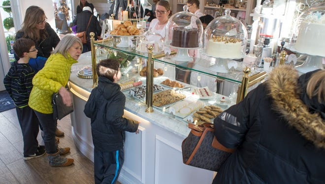 The main counter at The Cake Bake Shop, a new high end bakery and cafe in Broad Ripple, Indianapolis, Wednesday, December 31, 2014.
