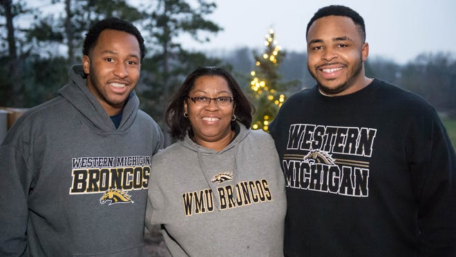 Kimmie Mattison and her sons Parresse Hampton, left, and William Hampton III.
