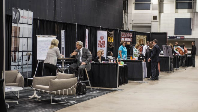 About 60 business were represented at the Business Expo held at the Kellogg Arena last year. This year's event will be held at FireKeepers Casino Hotel.