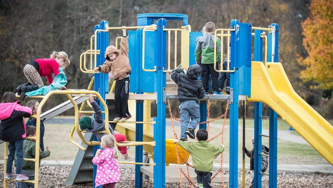Minges Brook wants to buy two new playground pieces: One for the K-2 playground and another for the playground dedicated to third- and fourth-graders.