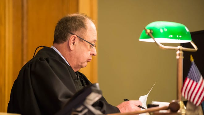 Judge William Collette is seen in Ingham County Circuit Court in this 2015 file photo.