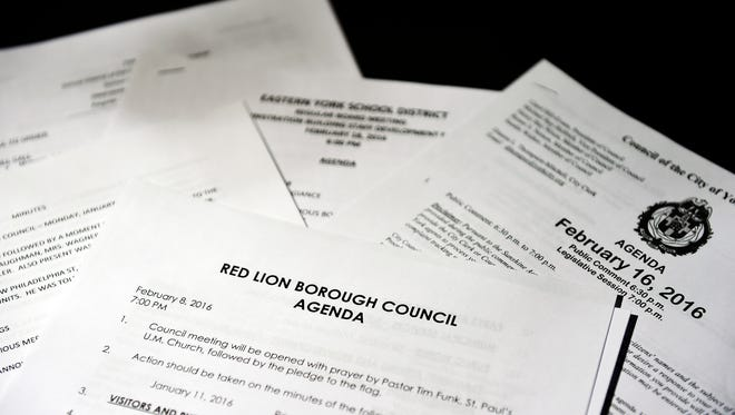 York Daily Record and Hanover Evening Sun Reporters examined these minutes and agendas for 13 municipal and school boards from around York County. Overall, York County boards are maintaining excellent transparency in meeting documentation, but there was some room for improvement.