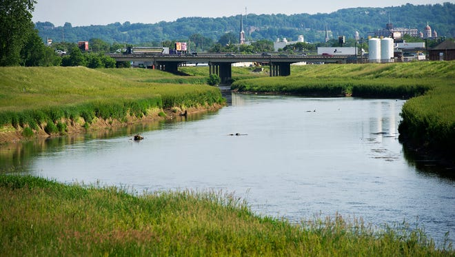 The Codorus Creek Viewed from the York County Heritage Rail Trail.