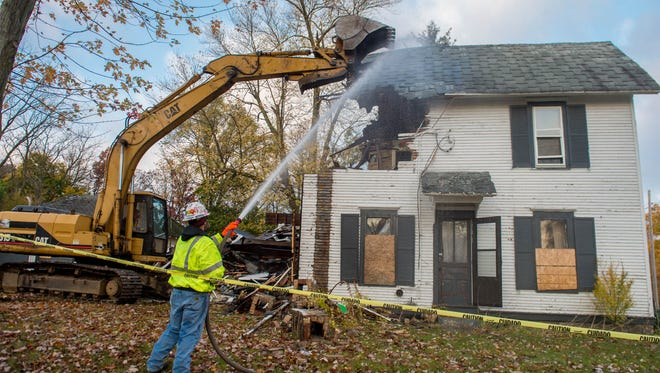 The home at 87 High St., a property that had landed on the vacant and abandoned properties list and was owned by the Calhoun County Land Bank Authority, was torn down in October 2015. Officials said the structure had break-in issues and was a blighted building in the Post Addition.