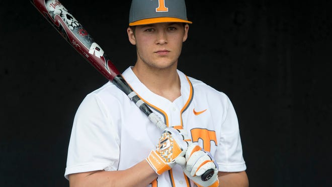 Tennessee baseball player Nick Senzel on Monday, February 15, 2016.