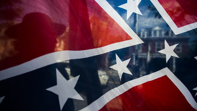 A Confederate flag was removed from the Flag Day ceremony at the Pennsylvania Capitol.