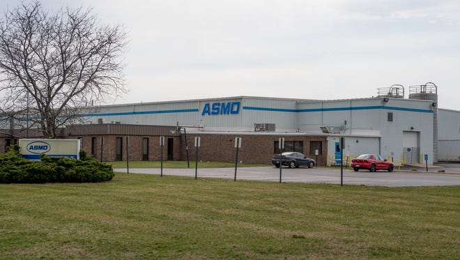 ASMO Manufacturing, Inc., manufactures blow injection moldings and is located at 500 Fritz-Keiper Blvd. ASMO Manufacturing, Inc., manufactures blow injection moldings and is located at 500 Fritz-Keiper Blvd.