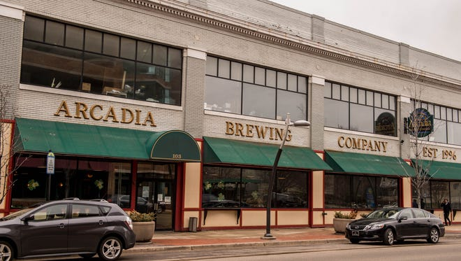 Arcadia Brewing Co., a brewery and restaurant founded in 1996, is located at 103 W. Michigan Ave.