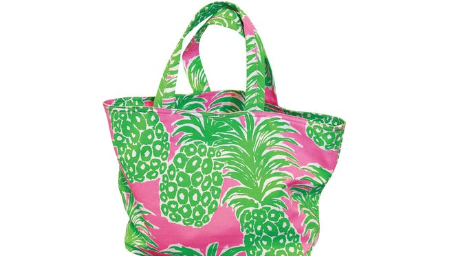 Lily Pulitzer pink pout beach tote, $68, at Bluetique.