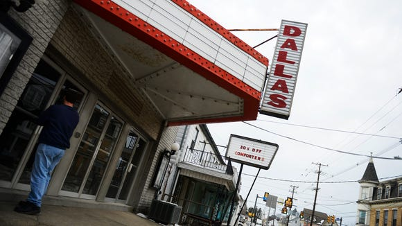 Doug Miller at the former Dallas Theater in Dallastown Friday, January 31, 2014.
