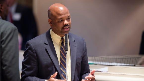 Chris England, D-Tuscaloosa, speaks about the Alabama