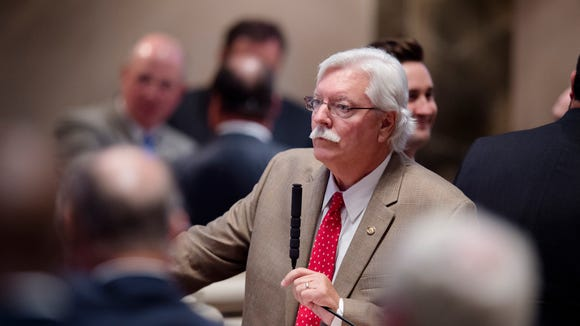 Alan Harper, R-North Port, sponsor of the Lottery Bill speaks during the legislative special session on Tuesday, August 23, 2016, at the State House in Montgomery, Ala.