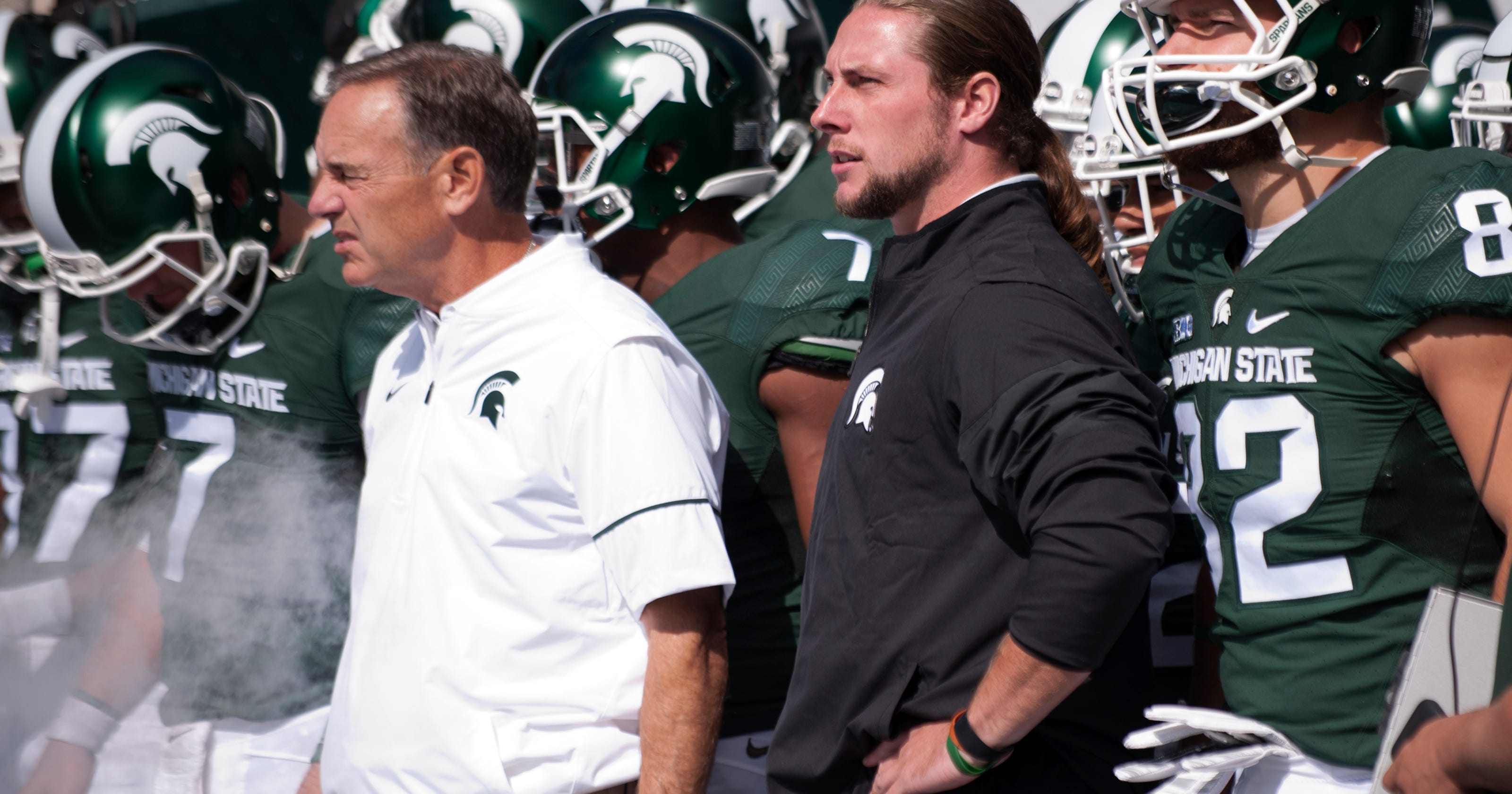 pretty nice 23373 a4ada Riley Bullough out for Indiana game, MSU now down two LBs ...