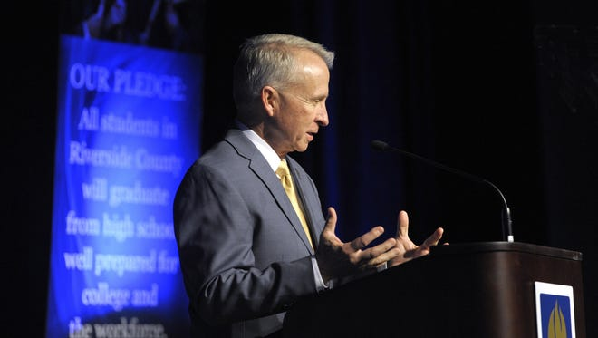 Photo from the State of Education address by Kenneth M. Young, CA, at the Palm Springs Convention Center on March 2, 2016. Photo by Rodrigo Pena Photography.