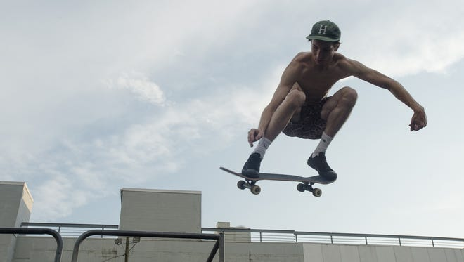The downtown skate park closed in July. Here, William Webb skateboards at the park in Montgomery, Ala., on Wednesday, June 17, 2015.