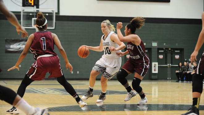 Stevenson's Sara Tarbert scored 49 points in Saturday's game. It was the most points scored in a women's basketball game in any NCAA division this season.