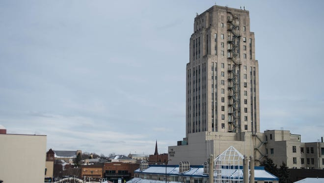 The Heritage Tower in downtown Battle Creek.
