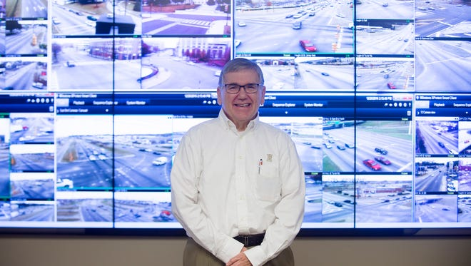 Bubba Bowden, Traffic Engineer director, stands in the traffic light control center in Montgomery, Ala., on Dec. 20, 2016.