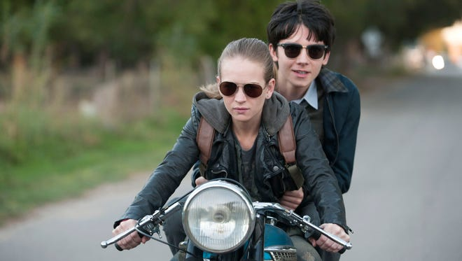 """Britt Robertson and Asa Butterfield in """"The Space Between Us."""""""