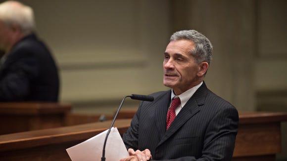 Senator Del Marsh, R-Calhoun, speaks during the Alabama